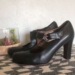 Donald J Pliner - Black Leather Mary Jane Heel